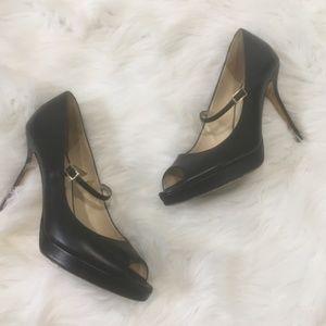 Jimmy Choo Heels Women Black Pumps leather Shoes
